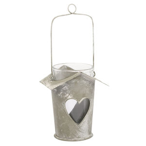 Birdhouse Style Heart Tea Light - table decorations
