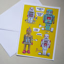 Personalised Talking Robots Card