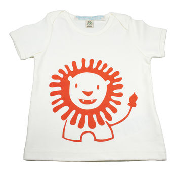 Lion Organic Cotton Baby T Shirt