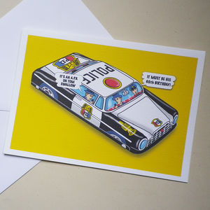 Personalised A.P.B. Highway Patrol Card - general birthday cards