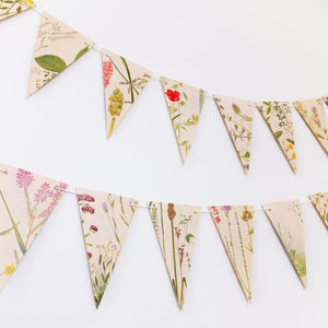 Victorian Flower Bunting - room decorations