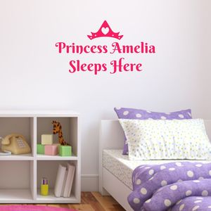 Personalised Princess Wall Sticker - children's room accessories