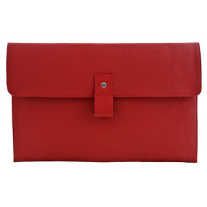 Red Leather 13 Inch Macbook Air Case - bags & cases