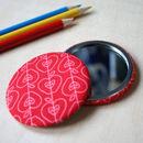 Teacher Gift, Apples Pocket Mirror
