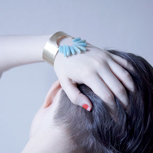 Amazonite Portal Cuff Bracelet - cocktail jewellery
