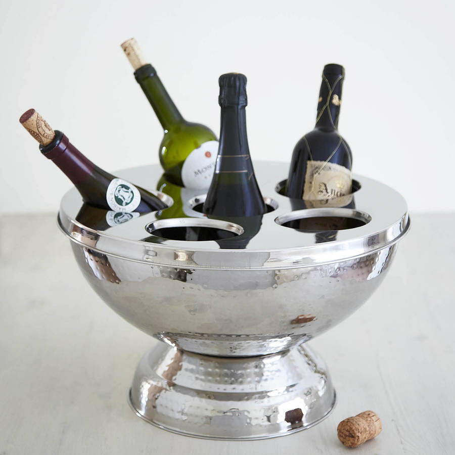 Hammered Champagne And Wine Bucket By Primrose Amp Plum