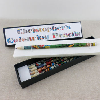 Personalised Superhero Colouring Pencils
