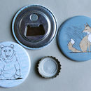 Mr Brown Bear Magnetic Bottle Opener