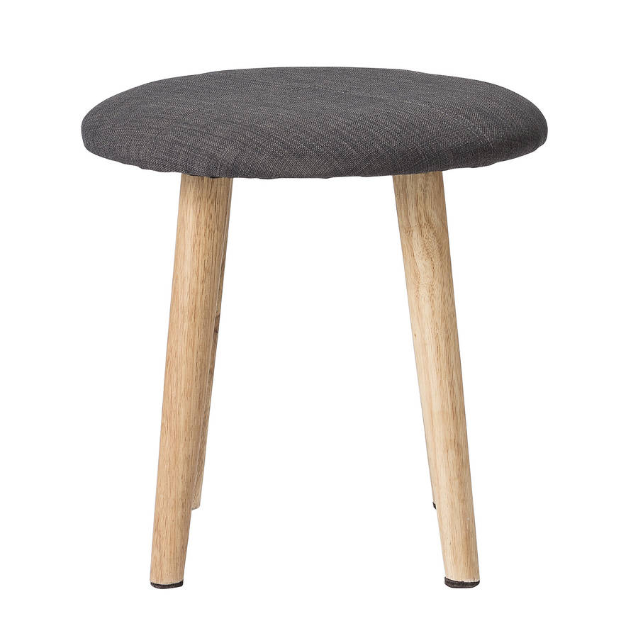 Upholstered Stool In Three Sizes By Out There Interiors
