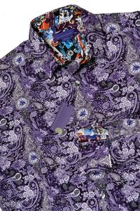 Victorian Time Travel, A Purple Paisley Men's Shirt