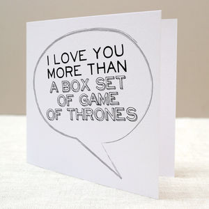 I Love You More Than… Personalised Card - father's day cards