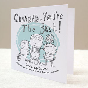 Children's Personalised Grandparent Card - father's day cards