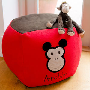 Monkey Personalised Beanbag - bedroom
