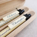 Set Of Two Personalised Wedding Vow Pens