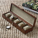 Personalised Leather Watch Box For Five Watches