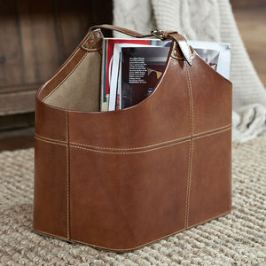 Leather Basket - office & study
