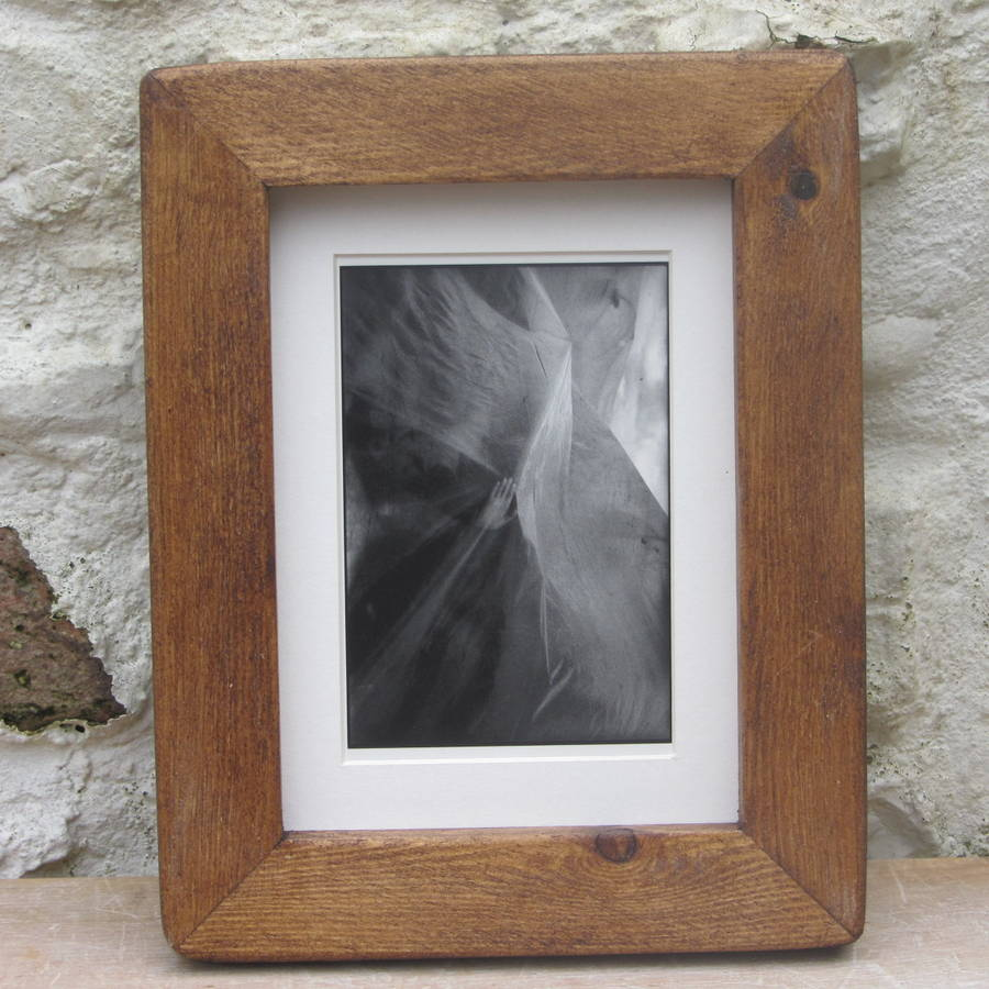 old wood picture frame by horsfall & wright | notonthehighstreet.com