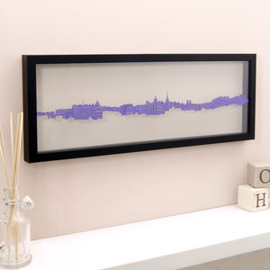 Edinburgh Royal Mile Papercut Wall Art - mixed media & collage