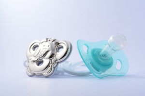 Elephant Sterling Silver Soother Holder Baby Gift - baby care