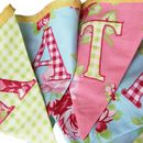 Personalised Cotton Fabric Bunting 'Summer Rose'