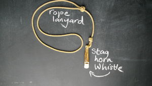 Rope Lanyard With Stag Horn Whistle - walking