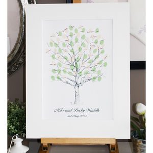 Personalised Thumbprint Tree Guest Book