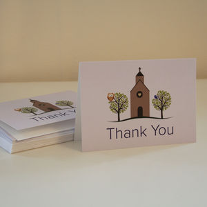 Thank You Christening Card - thank you cards