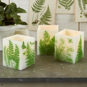 Botanical Print Citronella Candle - home accessories