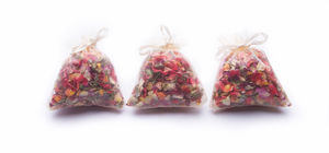 Mini Organza Bags Or Cone Of Rose Petal Confetti - decoration
