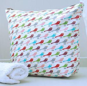Bright Bird Print Wash Bag - wash & toiletry bags