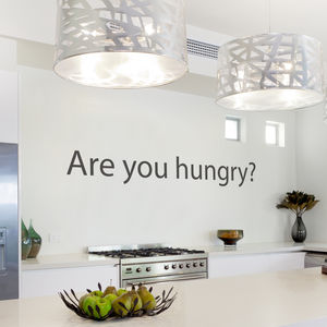 'Are you hungry?' Wall Sticker - bedroom