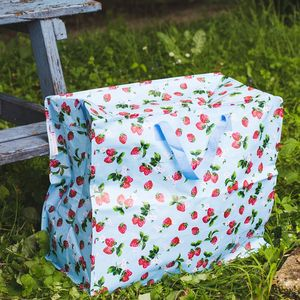 Strawberry Recycled Jumbo Storage Bag - storage