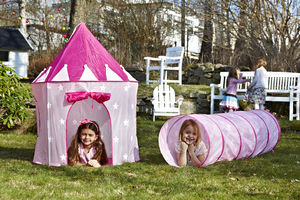 Pink Star Play Tunnel - tents, dens & wigwams