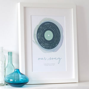 'Our Song' Personalised Print - 1st anniversary: paper