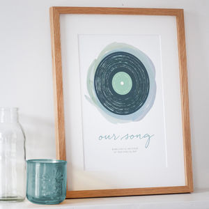 'Our Song' Personalised Print - prints & art