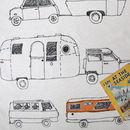 Caravan And Campervan Tea Towel