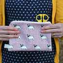 Big Purse/Pencil Case Dotty Pug