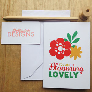 'Blooming Lovely' Greeting Card