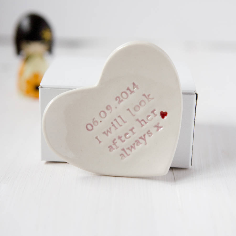 personalised wedding gift ring dish by foxery notonthehighstreetcom