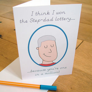 Step Dad 'One In A Million' Personalised Card