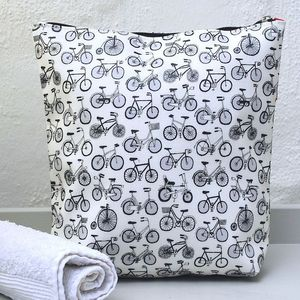 Graphic Bicycle Print Wash Bag - wash & toiletry bags