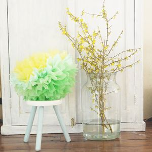 Mint Green Blossom Paper Decoration - room decorations