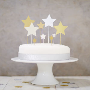 Star Cake Topper Set - weddings sale