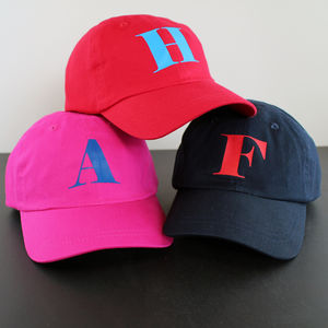 Personalised Initial Baseball Children's Cap - hats