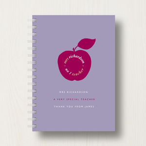Personalised My Teacher Journal Or Notebook