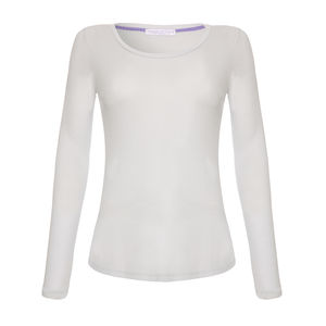 Essential Grey Long Sleeved Scoop Neck T Shirt - lounge & activewear