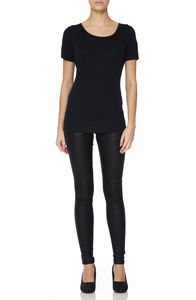 Women's Essential Black Scoop T Shirt