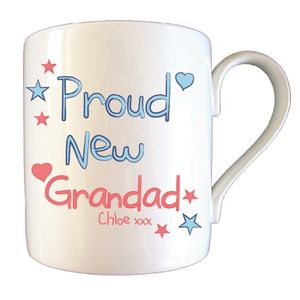 Personalised Proud New Grandad Father's Day Mug