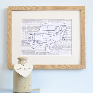 Personalised Classic Car Embroidered Artwork