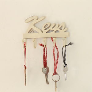 Wooden 'Keys' Wall Hooks - storage & organising